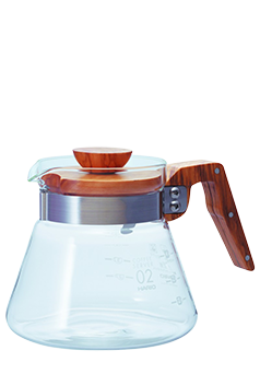 Hario V60 Coffee Server Olive Wood 02-glass 600ml