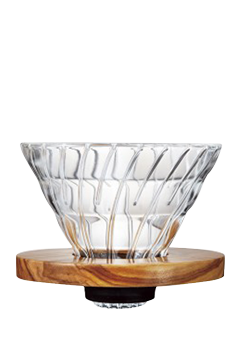 Hario V60 Dripper 02 (glass-olive wood)